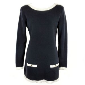 LANDS END Classic Boat Sweater Tunic Dress XS